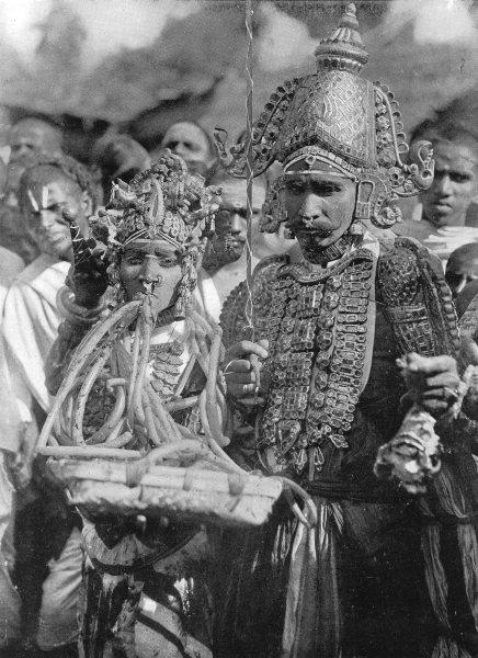 Associate Product INDIA. Fete village deity; Ankalamma; Tamil Sembadavans,Virabhadra son Siva 1900