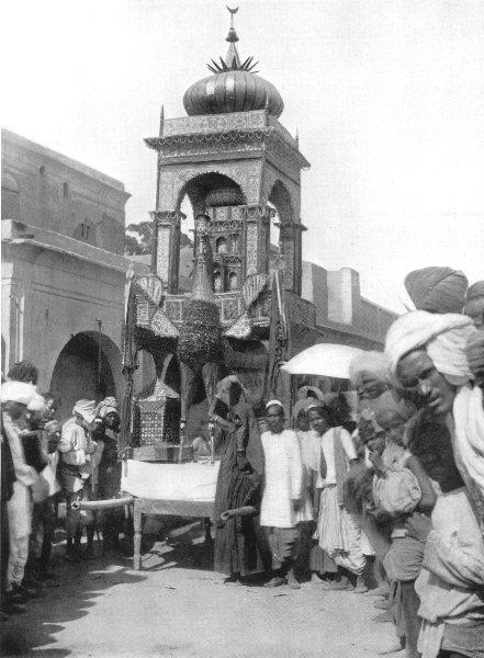 Associate Product FIROZPUR.Mohurrum Fete;Tabut,tombs Hasan Husain,Shi'ah martyrs,Punjab,burak 1900