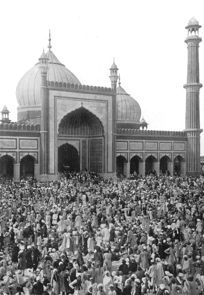 Associate Product INDIA. The Jama Masjid, Delhi;  1900 old antique vintage print picture