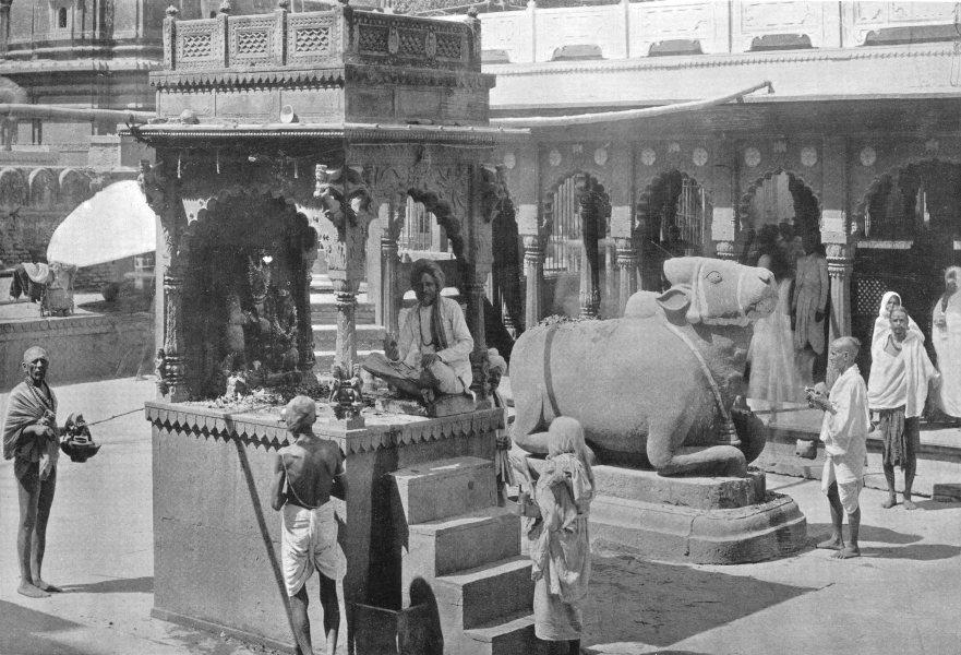 Associate Product INDIA. A Gyan Bapi, pool of knowledge;Hindu Saiva shrine;Nandi Siva;Parbati 1900