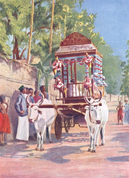 Associate Product INDIA. A Wedding cart;  1900 old antique vintage print picture