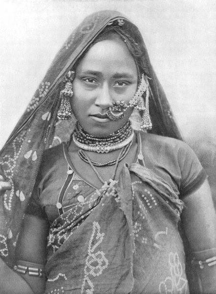 Associate Product INDIA. A Bhil Woman; Western India 1900 old antique vintage print picture