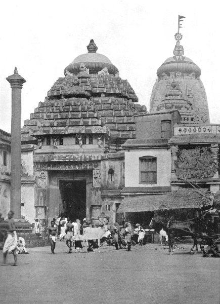 Associate Product INDIA. The temple of Jagganath at puri; Car festival; Rath jatra 1900 print