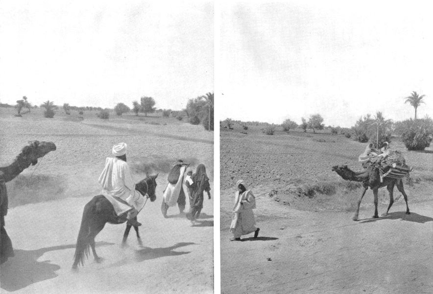 Associate Product PAKISTAN. Travelling in Baluchistan; family on the march 1900 old print