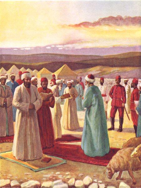 Associate Product ISRAEL. The Samaritan Passover; guard of Turkish soldierss 1900 print