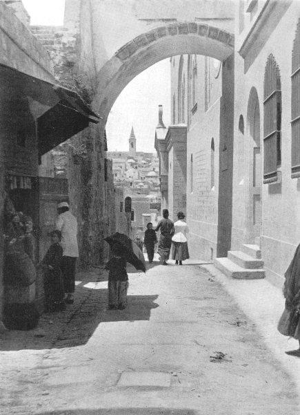Associate Product ISRAEL. The Ecce Homo Arch; Via Dolorosa, Jerusalem 1900 old antique print
