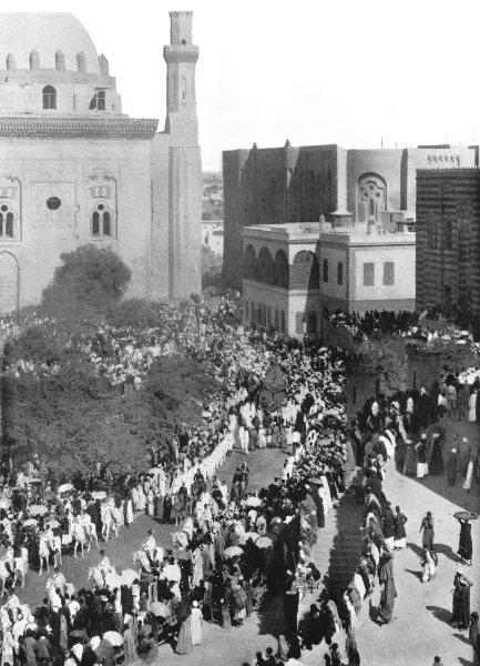 Associate Product EGYPT. Parade of Mahmal; sacred litter, Rumeleh Sq at Cairo 1900 old print