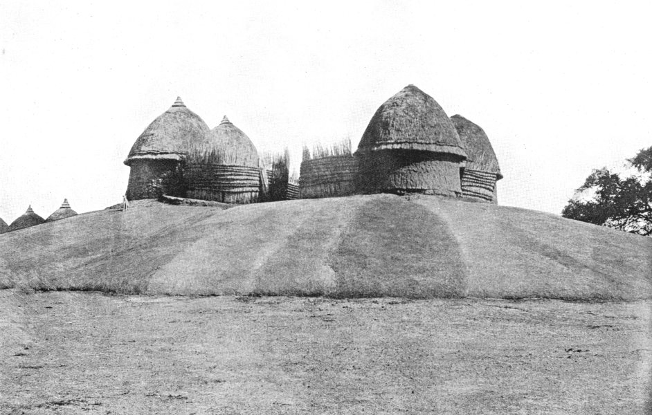 Associate Product SUDAN. The Southern Sudan. The Residence of the Shilluk King;  1900 old print