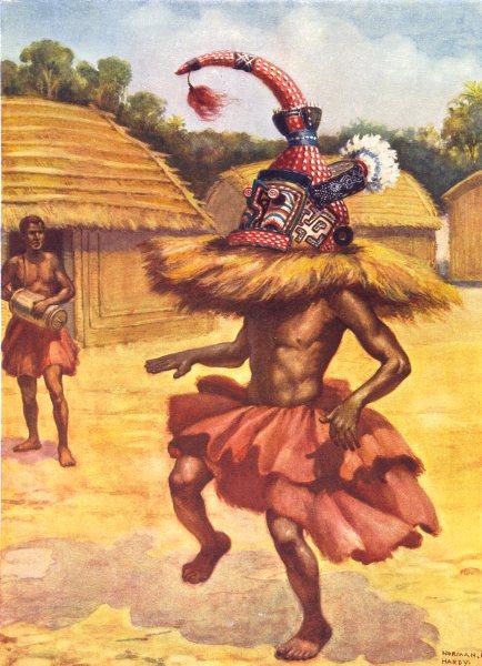 Associate Product CONGO. A Secret society, Misumba, Lower; Babende; Bangongo, Bushongo 1900