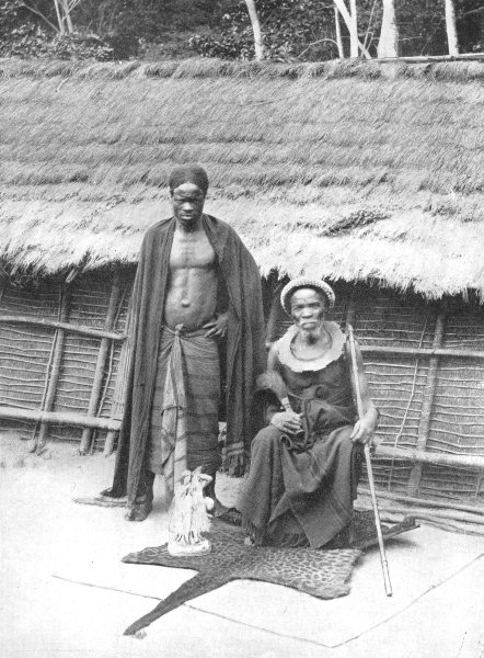Associate Product CONGO. A Bateke chief; Stanley Pool; hinterland Tshumbiri 1900 old print