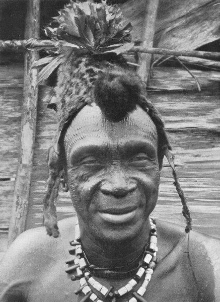 Associate Product CONGO. The Chief of BosoGbete (Lisala) Bopoto; cicatrization 1900 old print