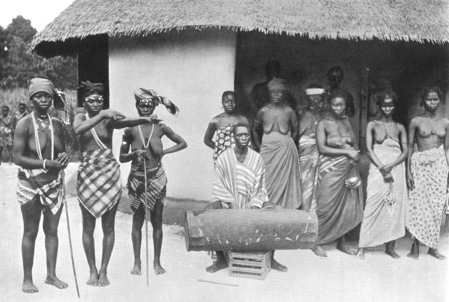 SIERRA LEONE. The Yassi Society; women society; treat Poro men 1900 old print