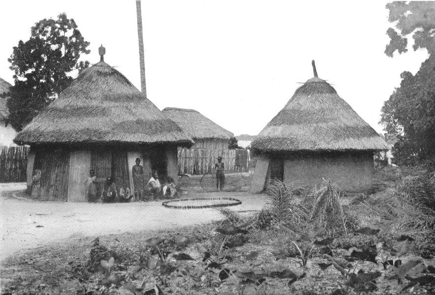Associate Product SIERRA LEONE. A Grave; empty gin-bottles show importance of the dead 1900