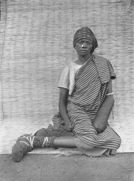 Associate Product WEST AFRICA. West Africa. The Application of Henna; dye is applied by Hausa 1900