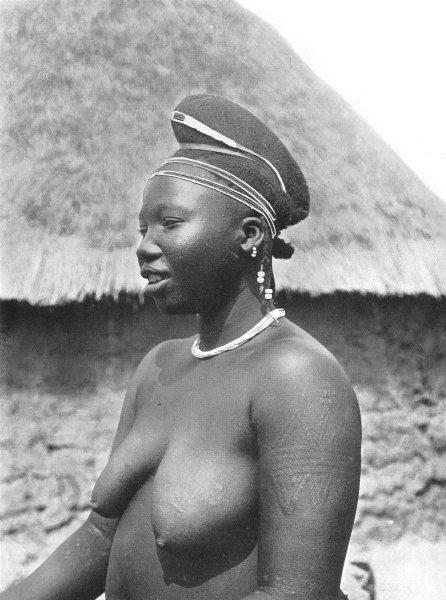 Associate Product NIGERIA. A Korama Woman; Hausa States of Northern Nigeria. Hair stiff ridge 1900