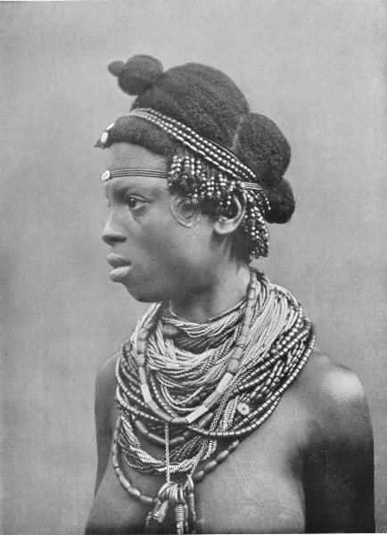 Associate Product WEST AFRICA. A Cross river woman;  1900 old antique vintage print picture