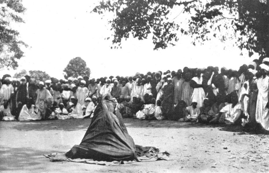 Associate Product NIGERIA. A Puppet show, Bida;  1900 old antique vintage print picture
