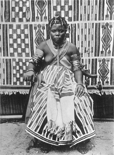 NIGERIA. A west African Bride; oil rivers protectorate, Southern 1900 print