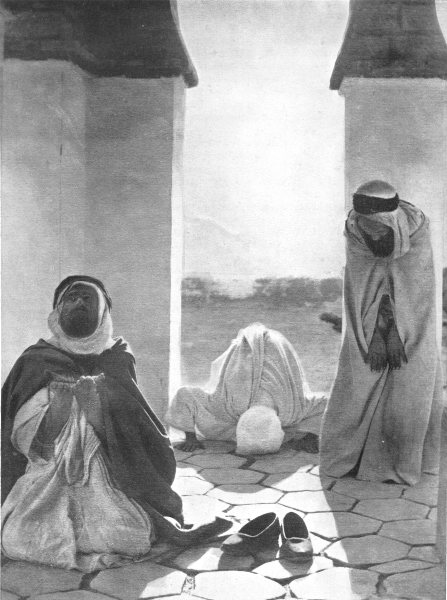 Associate Product NORTH AFRICA. The Prayer at Sunset; Moslem islam 1900 old antique print