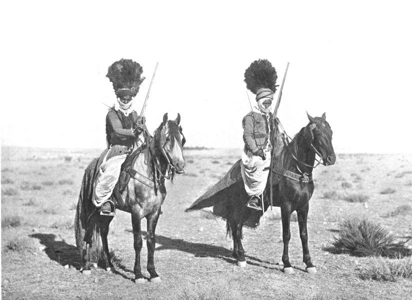 Associate Product ALGERIA. North Africa. Native Horsemen, Algeria; Algiers 1900 old print