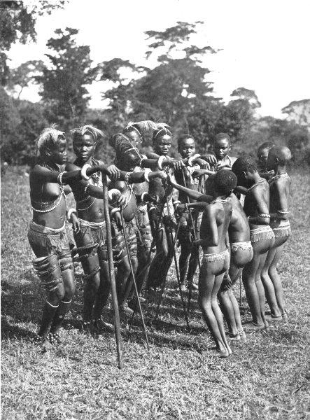 KENYA. A Ceremonial Dance, Taveta district; near Mount Kilimanjaro 1900 print
