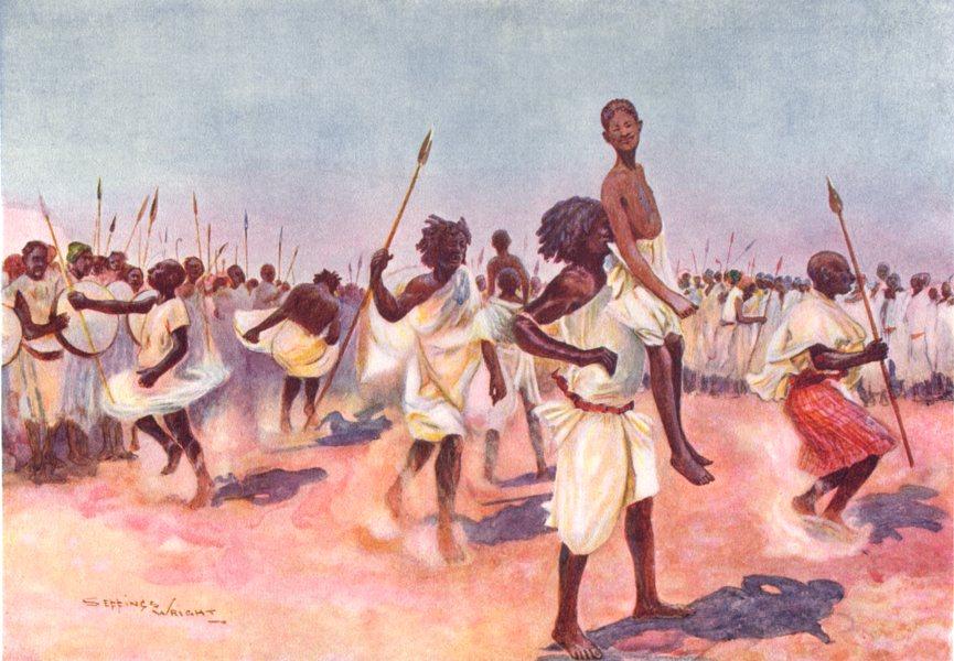 Associate Product SOMALIA. Somaliland. The Borana Bororansi dance, Somaliland;  1900 old print