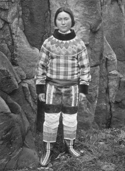 Associate Product Arctic America. A Greenland Beauty. Tkerasak, North West. Eskimo/Danish 1900