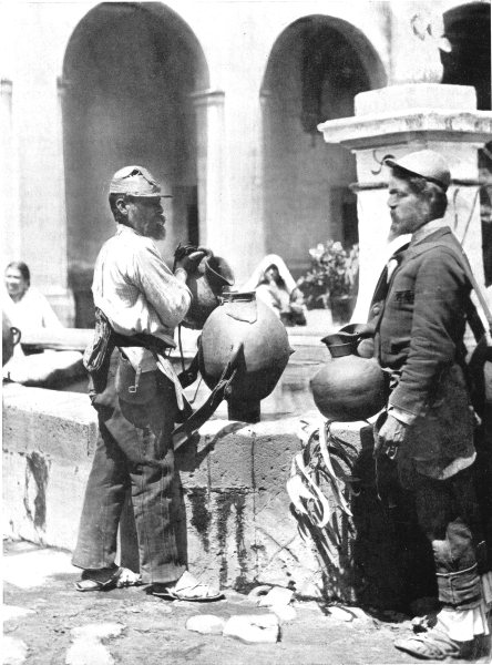 Associate Product MEXICO. Holy water carriers; Agua Prieta; prior to Easter Day 1900 old print