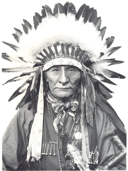 Associate Product NORTH AMERICA. Indian Customs in. A Chief, showing head-dress;  1900 old print