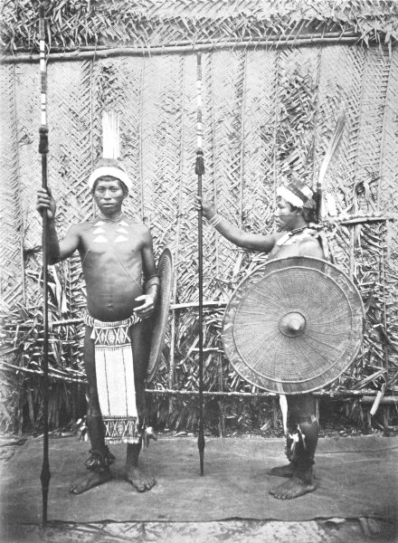 Associate Product BRAZIL. Tukano Indians in Gala Array; Uaupe River. North-west Brazil 1900