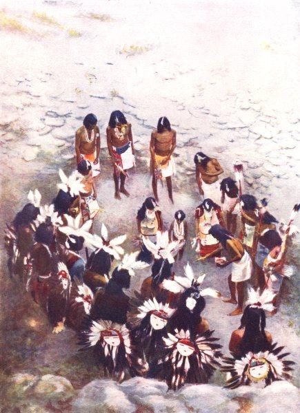 Associate Product ARIZONA. The Hopi Flute ceremony; The Lenya, or flute ceremony, Hopi ritual 1900