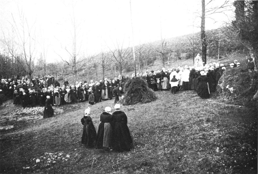 Associate Product KERGORNET. France. Good Friday parade; Pardon is popular among women 1900