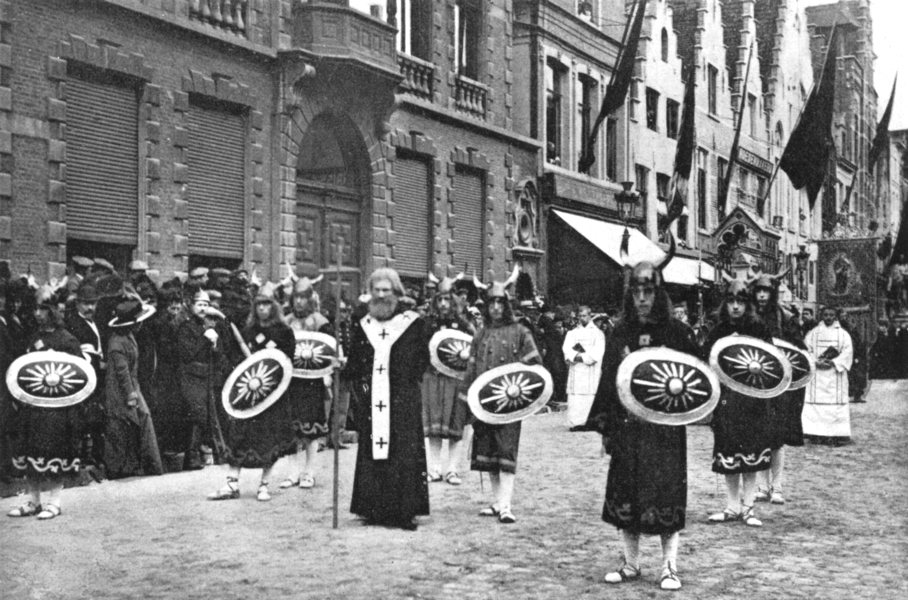 Associate Product BELGIUM. The procession of the holy Blood, Bruges. St John Berchmans 1900