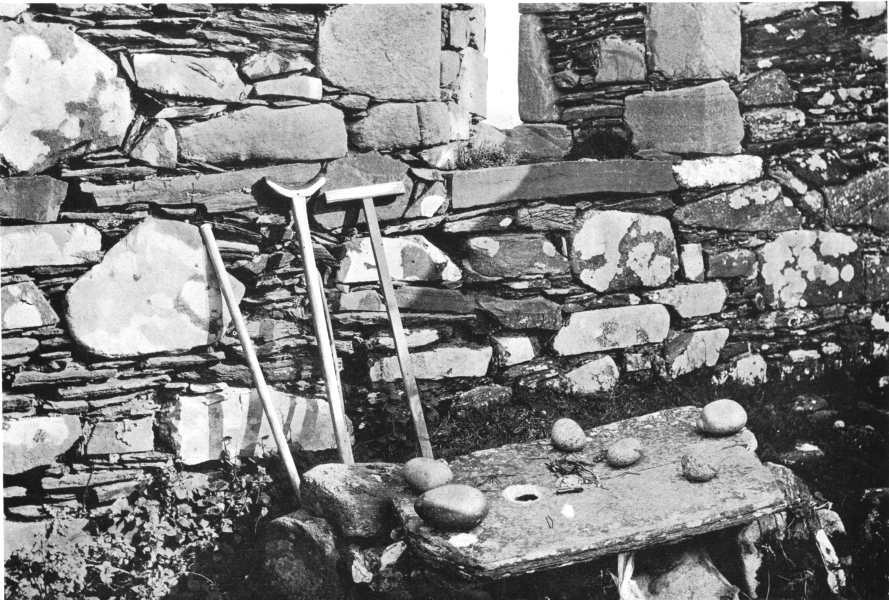 Associate Product DONEGAL. Hole-stone Altar, Iniskeel Naran; formed prehistoric holed gallaun 1900