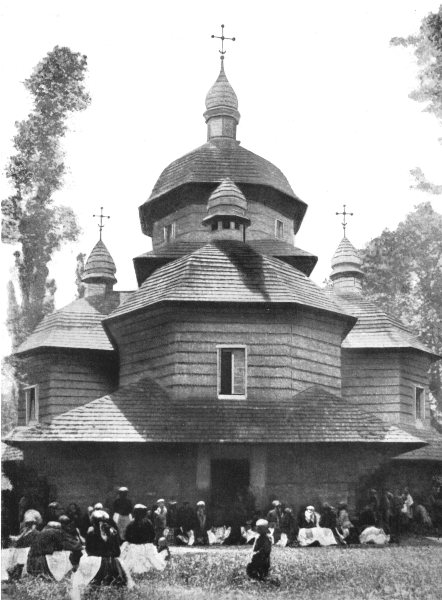 Associate Product ROMANIA. A Ruthenian Church, East Carpathians; Timber church 1900 old print