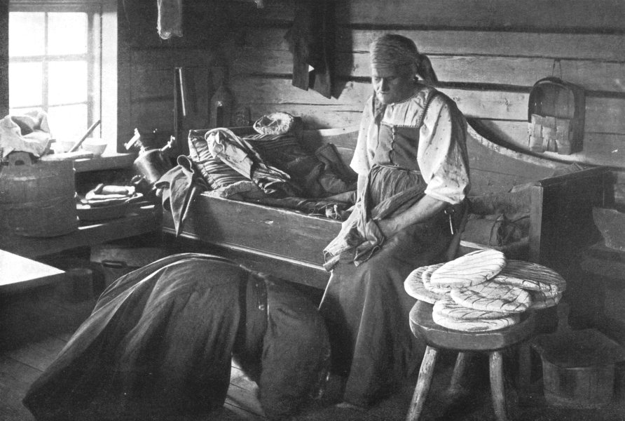 Associate Product FINLAND. Bride bows Mother in Law;MC throws Copper money symbol buying land 1900