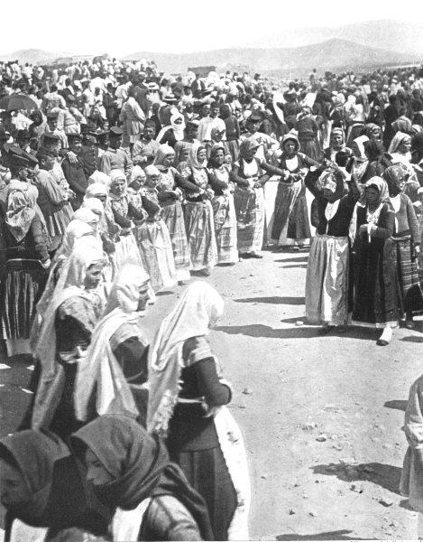 Associate Product GREECE. An Easter dance, Megara;  1900 old antique vintage print picture