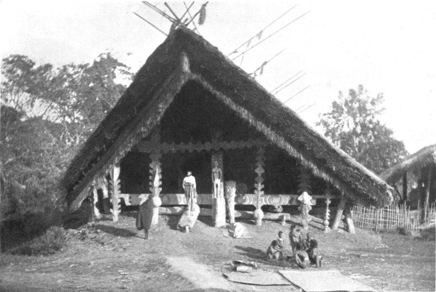 Associate Product ASSAM. A Naga palaver House; unmarried young men of village sleep 1900 print