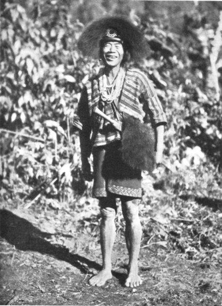 Associate Product ASSAM. A Mishmi Tribesman;  bangles protection against sword cuts 1900 print