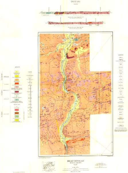 Associate Product CANADA. Beauceville Beauce county Quebec; Geological 1921 old vintage map