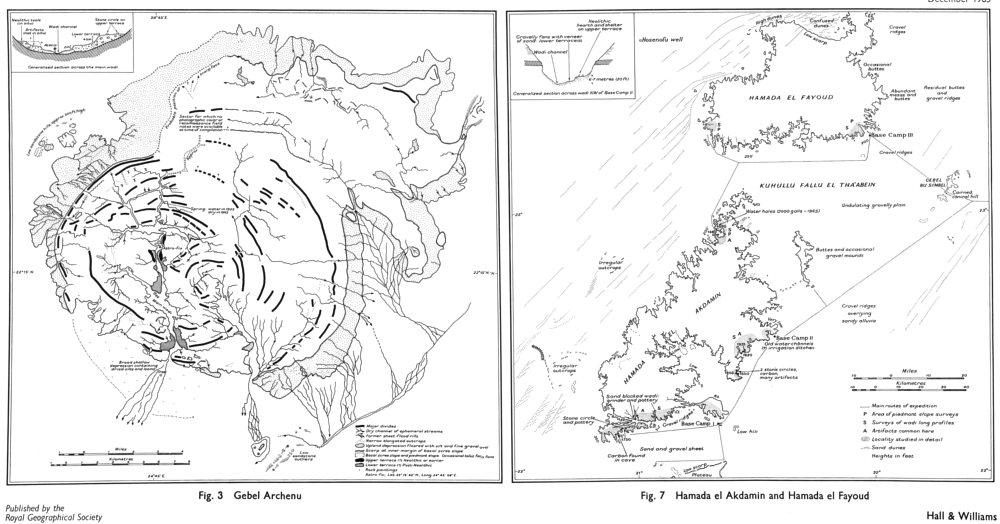 Associate Product LIBYA. Sandhurst expedition 1962;Gebel Archenu;Hamada el Akdamin;Fayoud 1965 map