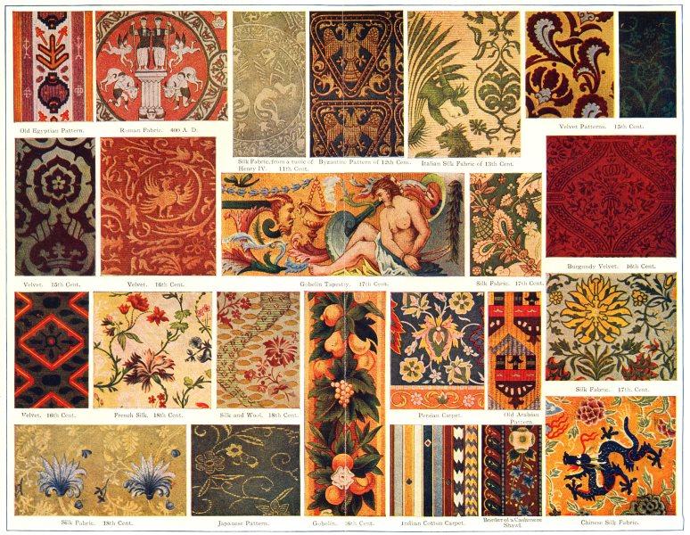 Associate Product WEAVING. Egypt;Roman;Byzantine;Italy;Gobelin;Burgundy;Iran;Japan;Kashmir 1907