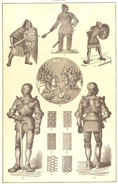 Associate Product ARMOUR. French 12C 8C; Polish 15C; Battle Askalon 1099 St Louis; Maximilian 1907