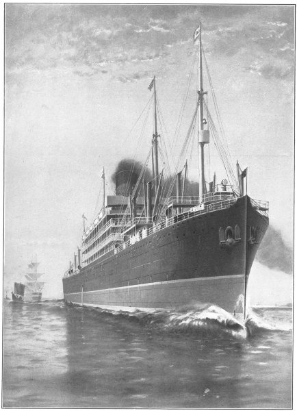 Associate Product MINNESOTA. largest vessel built in America Length, 630 feet 1907 old print