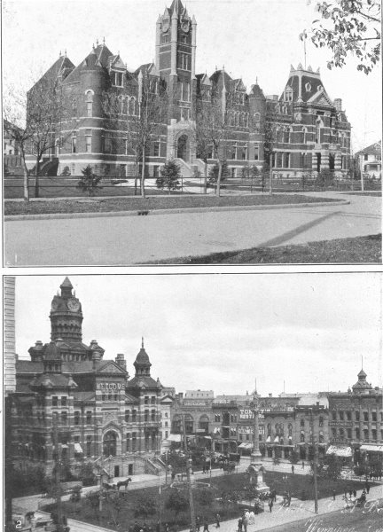 Associate Product CANADA. Winnipeg 1 Law Courts; 2 city Hall Sq, with Municipal building 1907