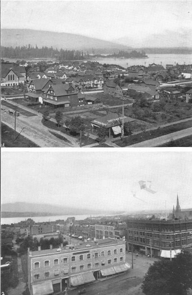 Associate Product CANADA. Vancouver,British Columbia 1 City of Vancouver; 2 from C P R Hotel 1907