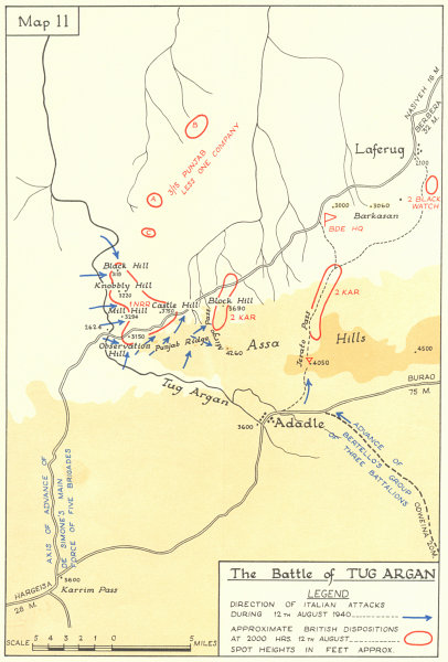 Map Of Africa 1940.Details About Somalia Italian East Africa Battle Of Tug Argan August 1940 World War 2 1954 Map
