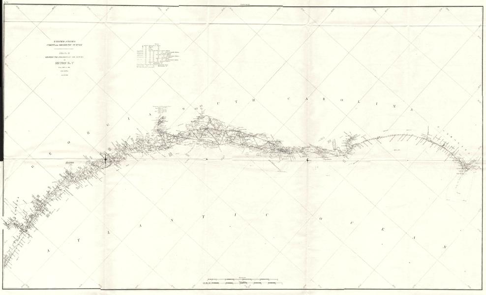 Associate Product GEORGIA SOUTH CAROLINA NC FL Coast. USCGS Cape Fear - St John's River 1881 map