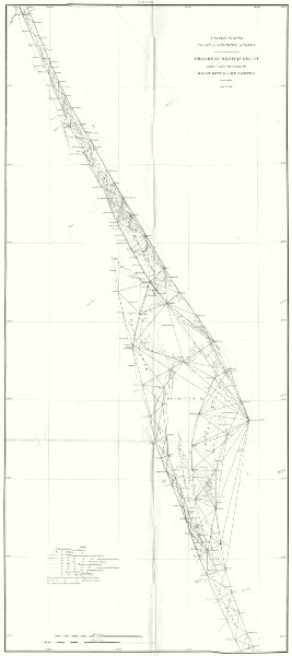 Associate Product FLORIDA East coast USCGS. Halifax river to Cape Canaveral.Daytona Beach 1881 map