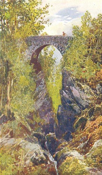 Associate Product DEVON. Dartmoor. Lydford Bridge 1908 old antique vintage print picture